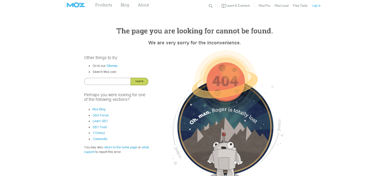eroare 404 moz