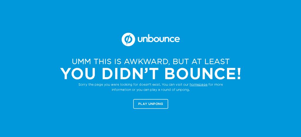 eroare 404 unbounce