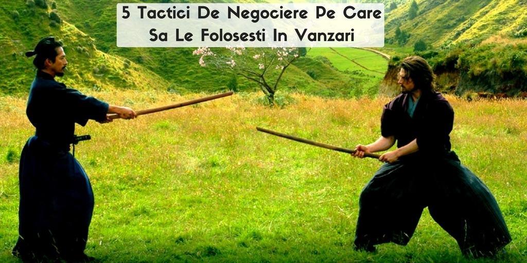 tactici de negociaere in vanzari