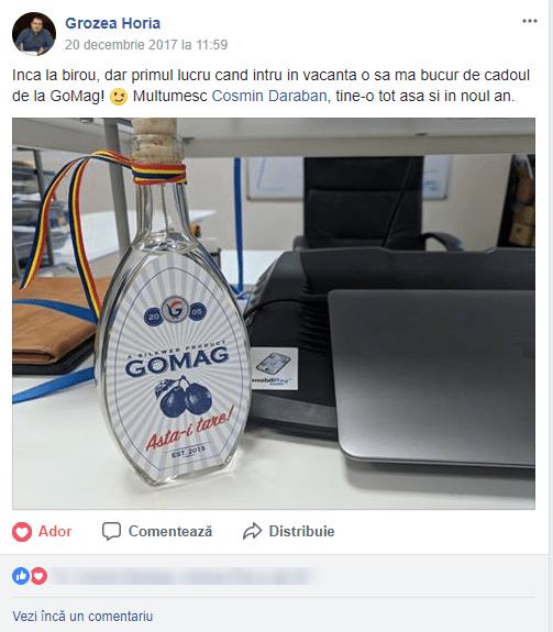 continut generat de utilizator palinca Gomag
