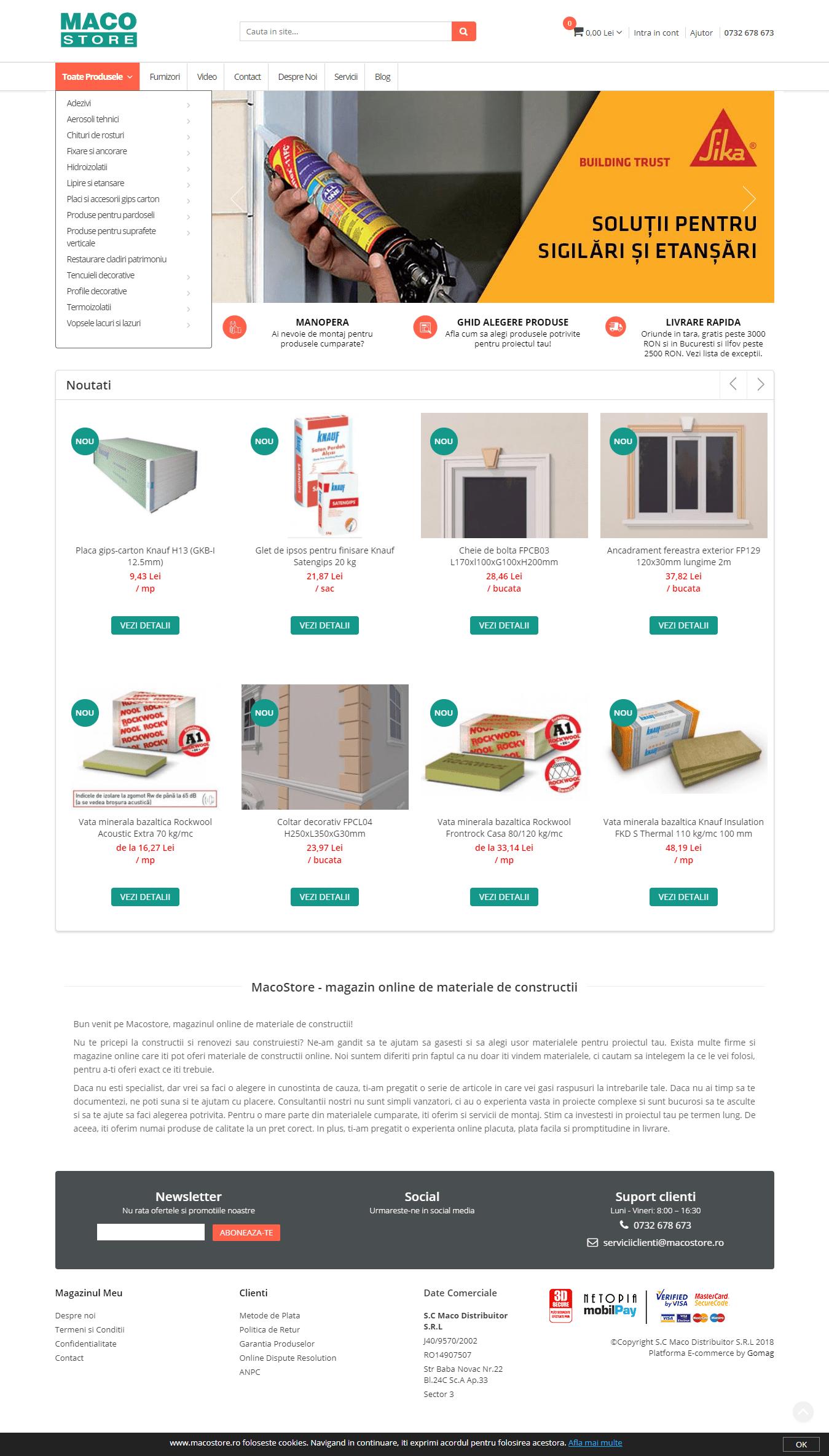 MacoStore homepage