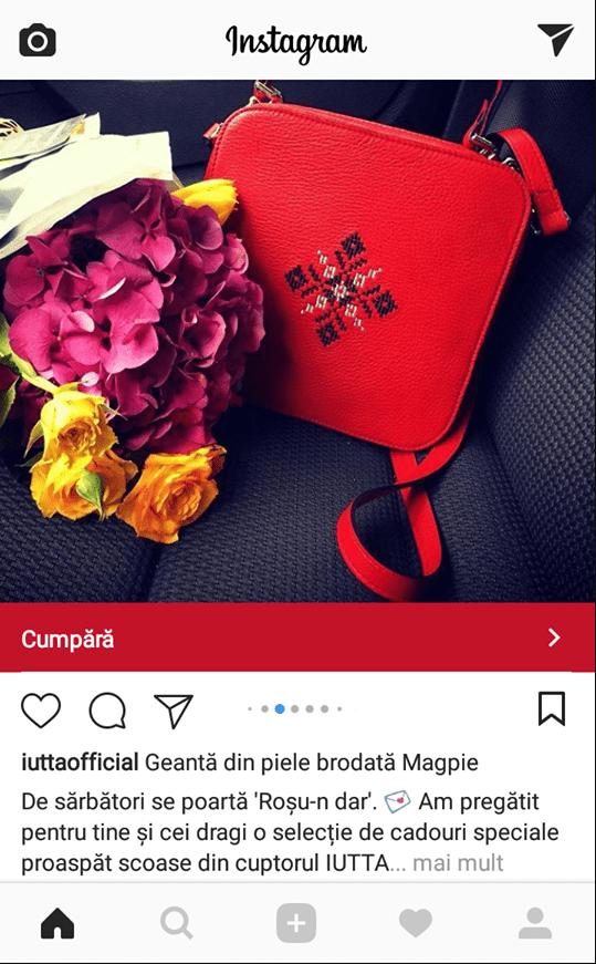 reclama instagram iutta carusel