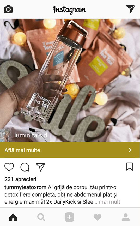 teatox reclama instagram influencer