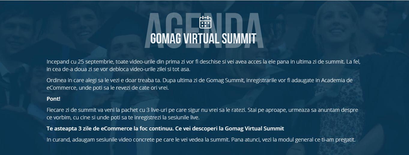 agenda gomag virtual summit 2018