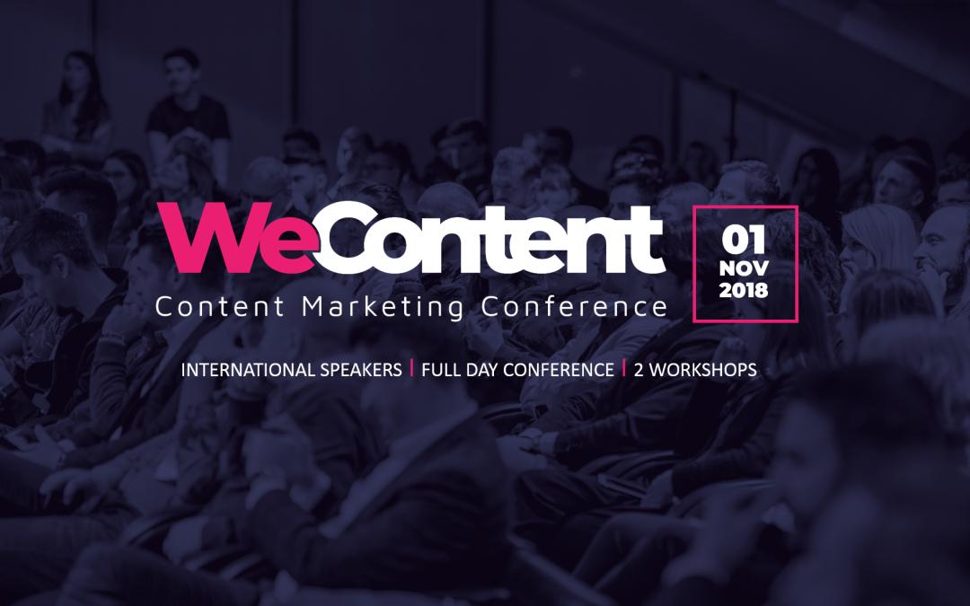 WeContent – creeaza-ti o super strategie de continut pe 1 noiembrie 2018