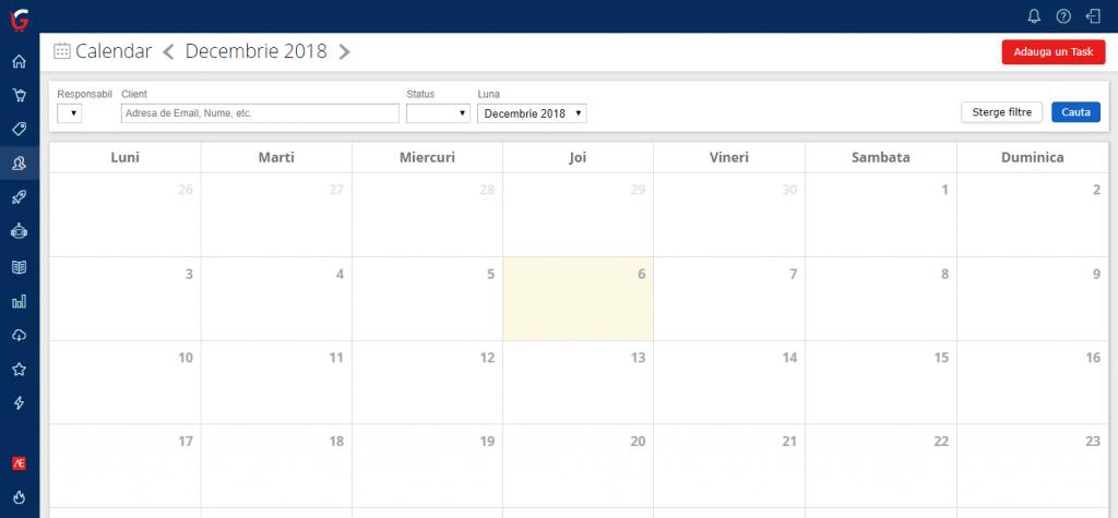 crm gomag calendar