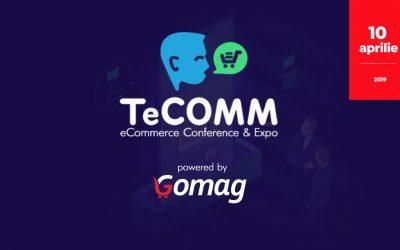 Hai si tu la TeCOMM Bucuresti powered by Gomag! Ne vedem pe 10 aprilie.