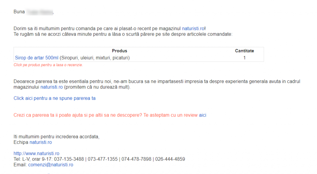 email-cerere-review