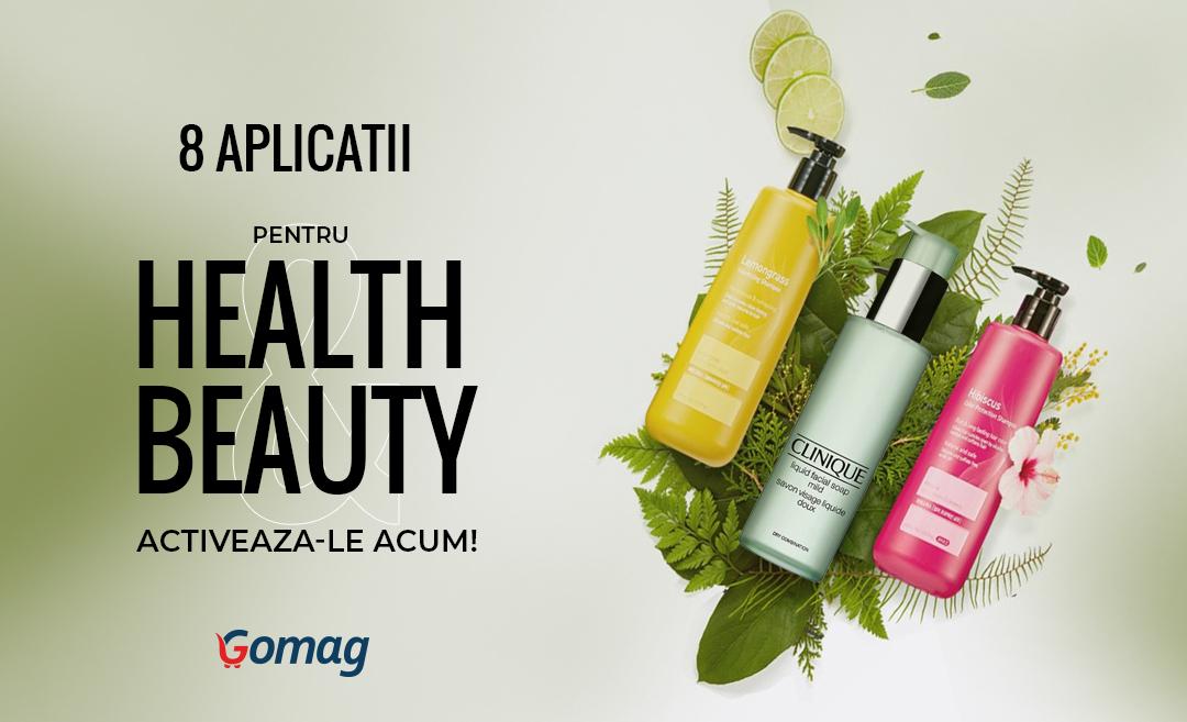 8 aplicatii Gomag pentru Health & Beauty - Activeaza-le acum!