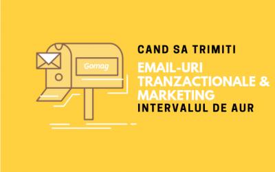 Cand sa trimiti email-uri tranzactionale & marketing – Intervalul de aur