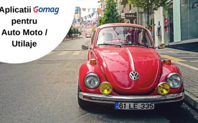 6 Aplicatii Gomag pentru Auto Moto / Utilaje in magazinul tau online