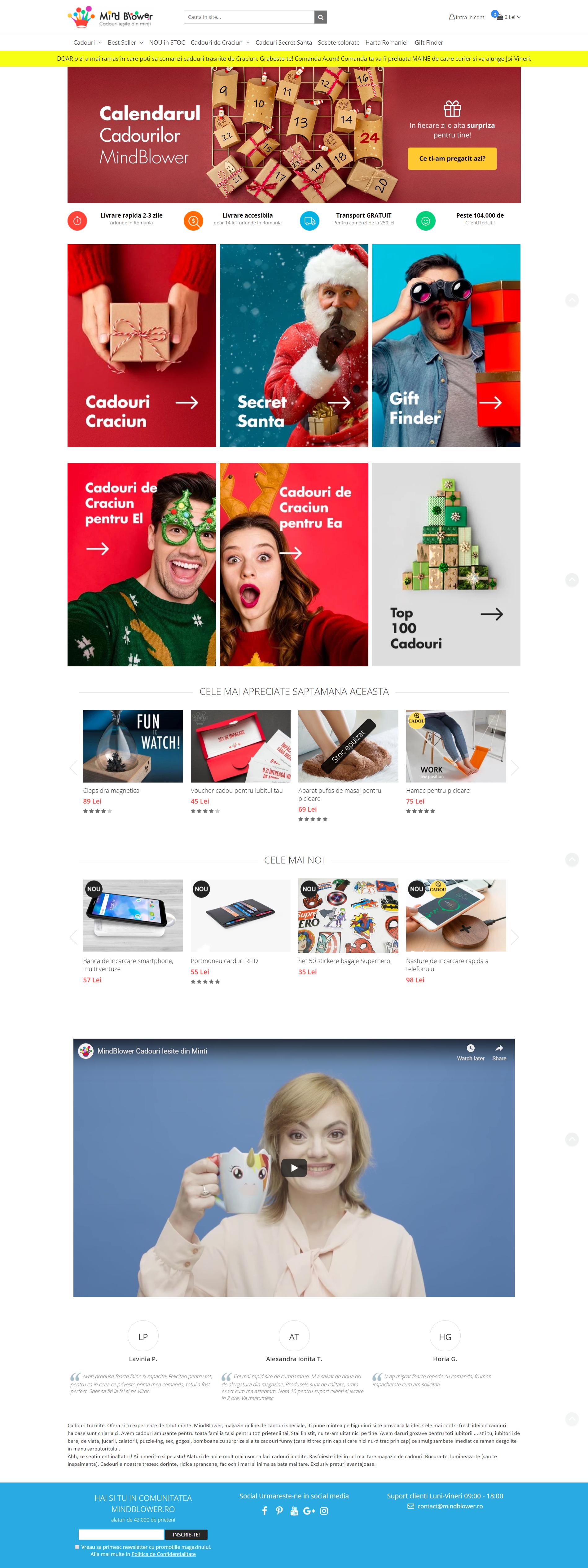 homepage-exemplu