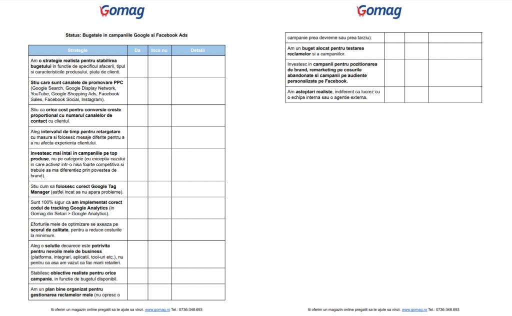 checklist-bugete-google-facebook