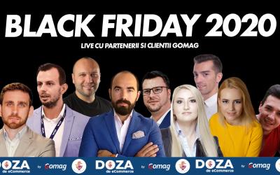 Date Black Friday in Romania 2020 – live cu parteneri si clienti Gomag