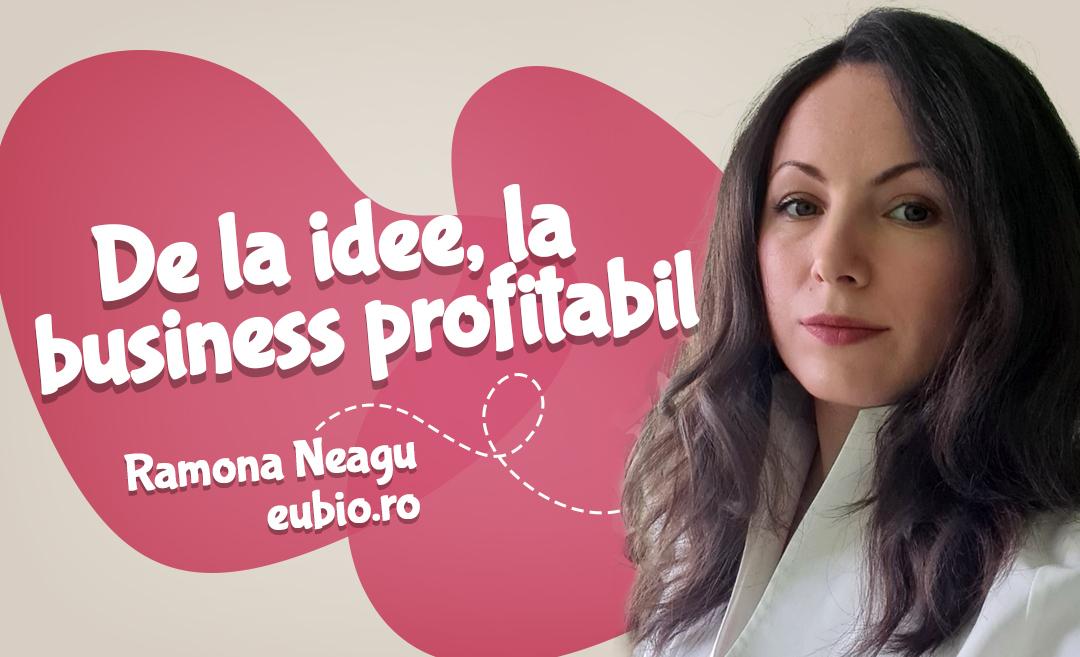 De la idee, la business online profitabil, cu Ramona Neagu de la Eubio
