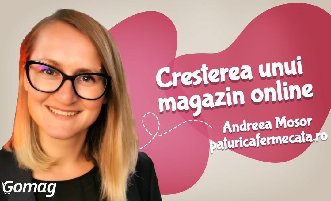 Sfaturi pentru cresterea unui magazin online, cu Andreea Mosor de la PaturicaFermecata.ro